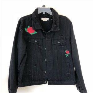 Black Rose Jean Jacket